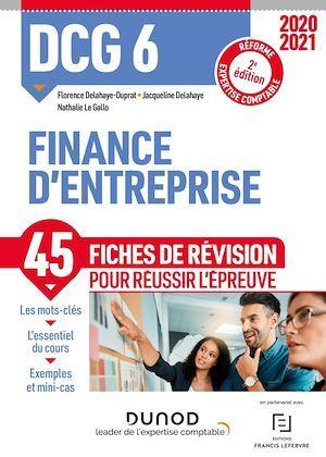 DCG 6 Finance d'entreprise - Fiches de révision - 2020/2021