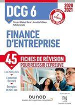 Vente EBooks : DCG 6 Finance d'entreprise - Fiches de révision - 2020/2021  - Florence Delahaye-Duprat - Nathalie Le Gallo
