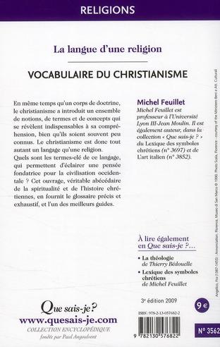 Vocabulaire du christianisme (3e édition)