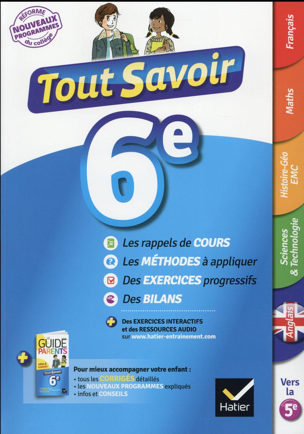 Tout Savoir 6e Collectif Hatier Grand Format Doucet Le Mans