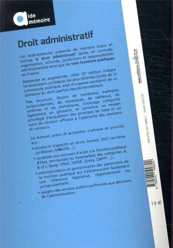 droit administratif (12e édition)
