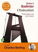 Vente AudioBook : L'Exécution  - Robert Badinter