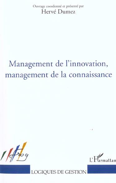 management de l'innovation, management de la connaissance