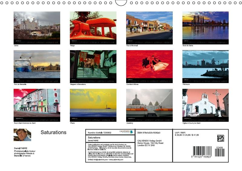 Saturations (calendrier mural 2017 DIN A3 horizontal)
