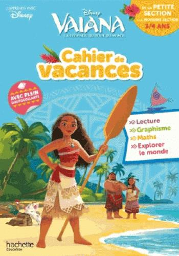 Cahier de vacances Vaiana ; de la PS à la MS