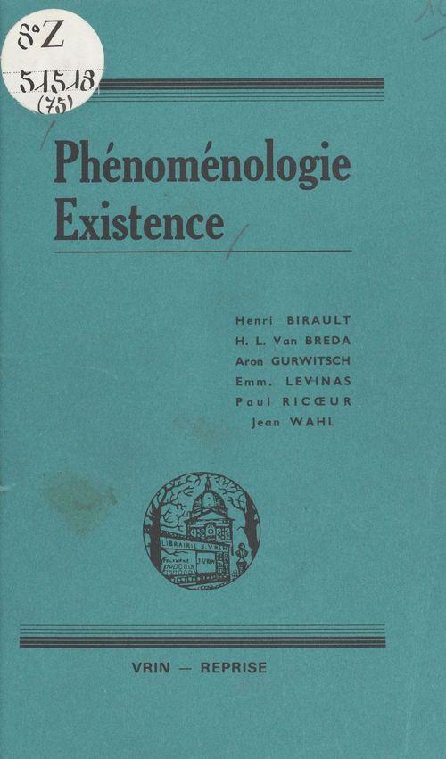 phenomenologie et existence