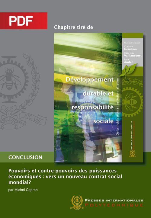 Pouvoirs et contre-pouvoirs des puissances économiques (Chapitre PDF)