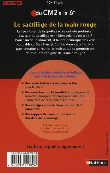 L'ENIGME DES VACANCES PRIMAIRE t.22 ; le sacrilège de la main rouge ; du CM2 à la 6ème
