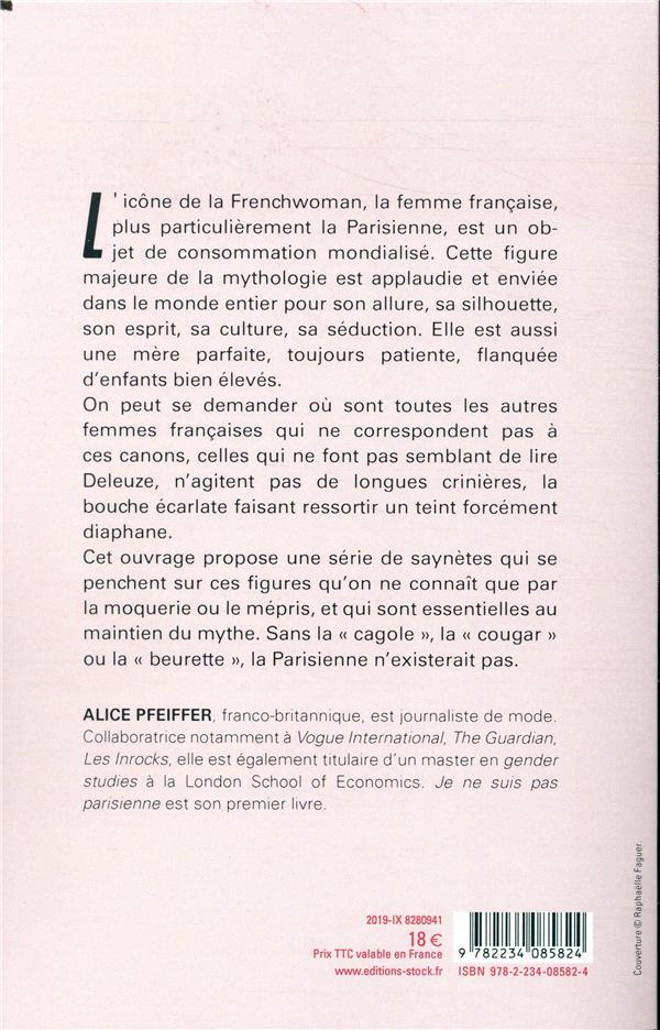 Je ne suis pas parisienne ; éloge de toutes les Françaises