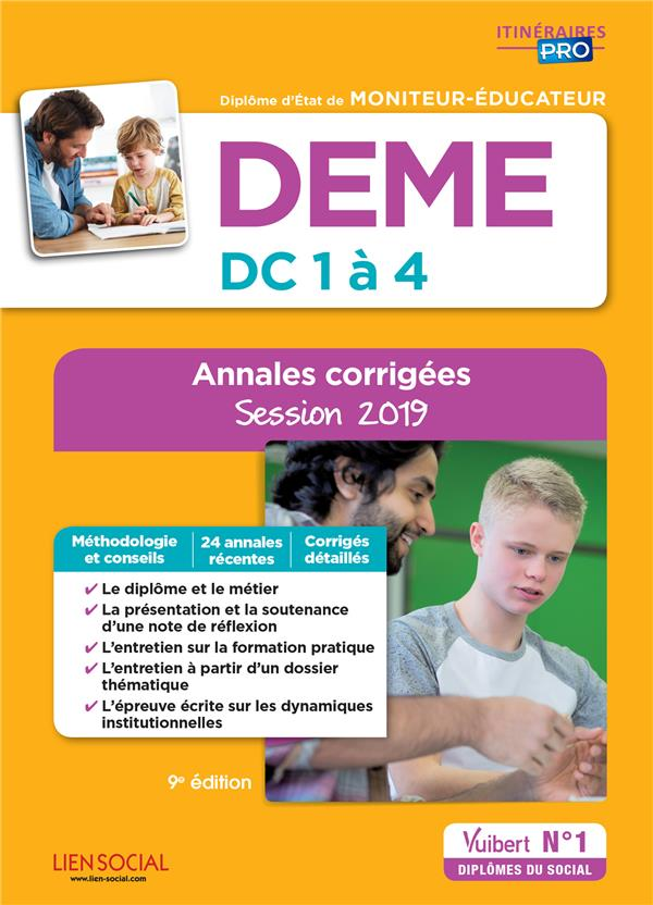 DEME  -  DC 1 A 4  -  ANNALES CORRIGEES  -  SESSION 2019 BILLET, MICHEL