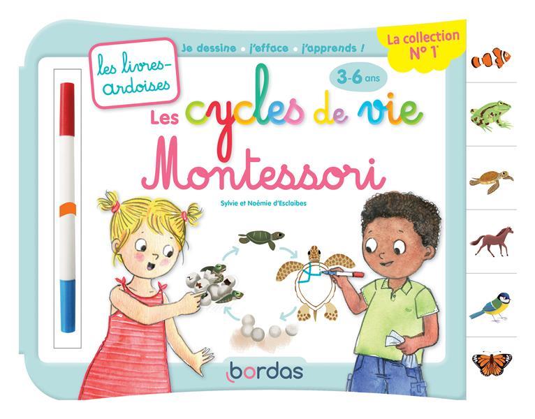 les livres-ardoises ; les cycles de vie Montessori