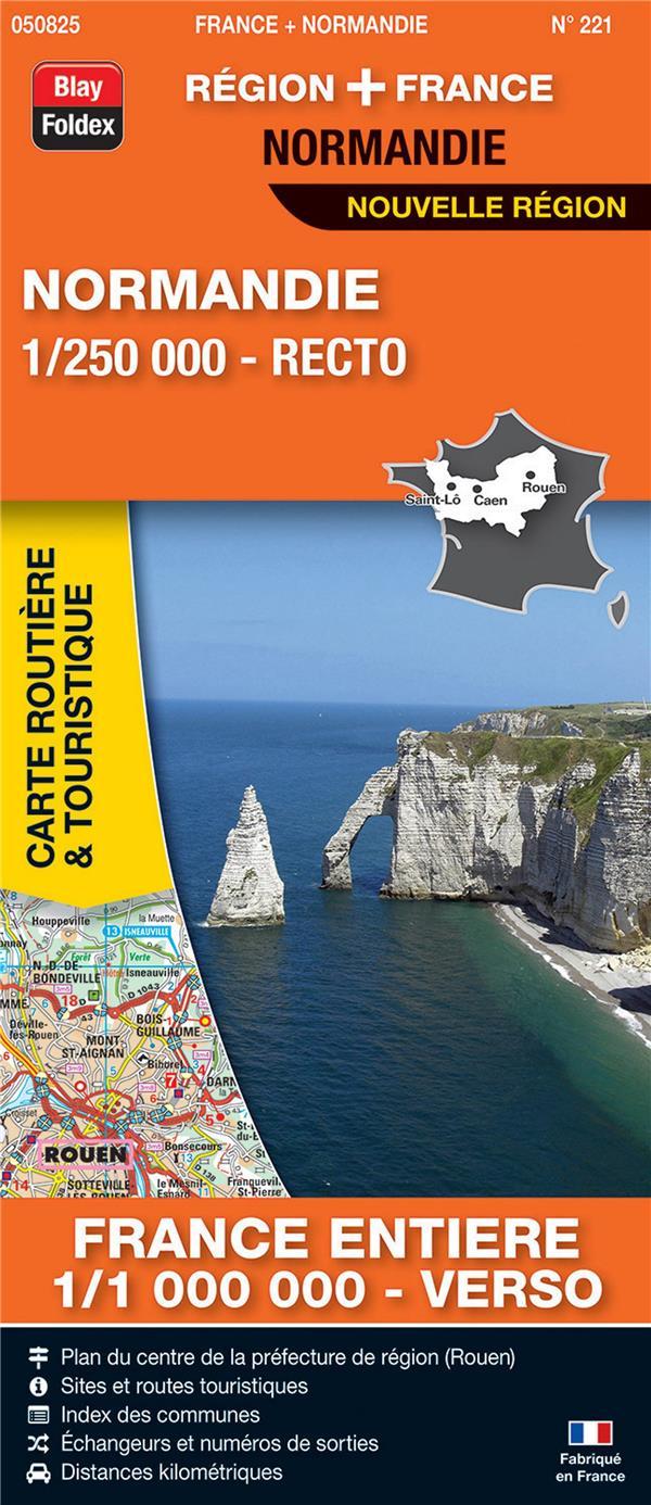 Carte routière & touristique N.221 ; Normandie