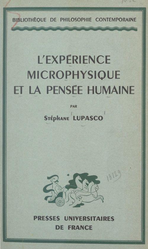 L'expérience microphysique et la pensée humaine