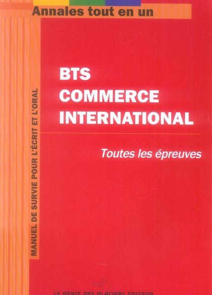 Annales tout en un bts commerce international