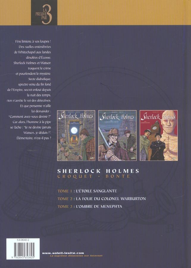 Sherlock Holmes ; t.1 à t.3