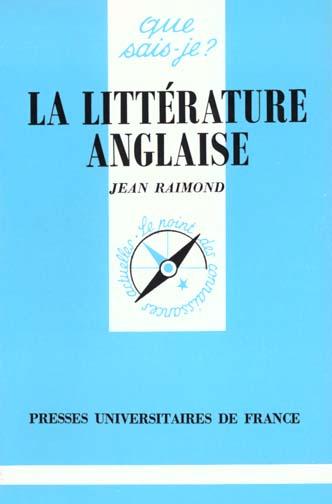 Litterature anglaise (la)