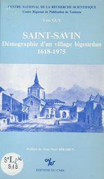 Saint-Savin : démographie d'un village bigourdan, 1618-1975