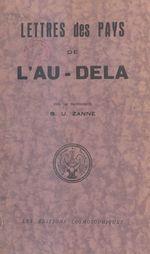 Vente EBooks : Lettres des pays de l'au-delà  - S.U. Zanne