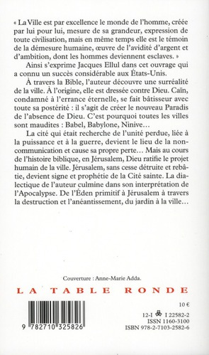 Sans feu ni lieu ; signification biblique de la grande ville