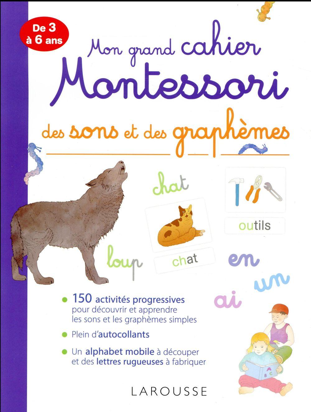 Mon Tres Grand Cahier Montessori Des Sons Et Des Graphemes