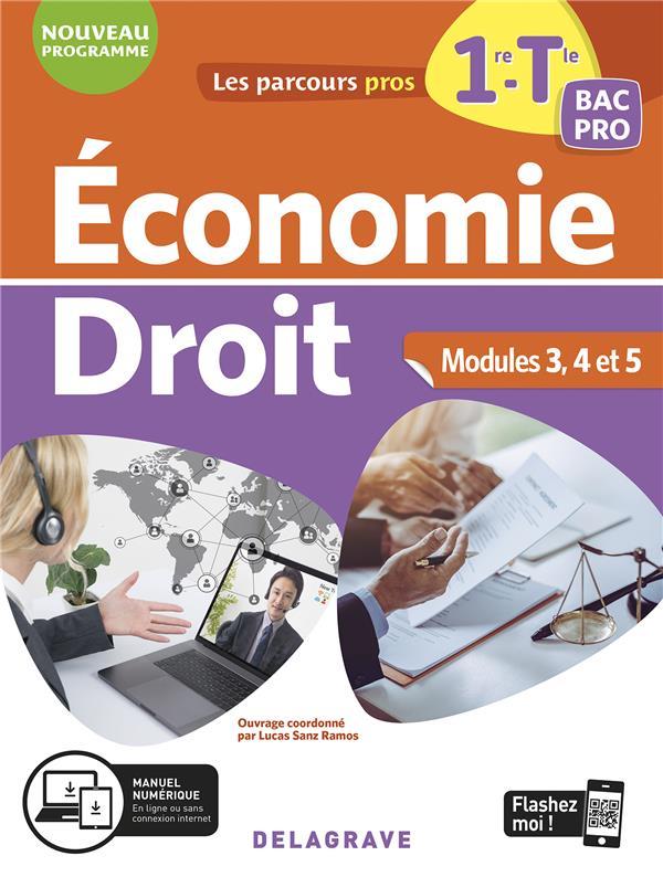 Les parcours pro ; économie-droit ; 1re, tle bac pro ; pochette élève (édition 2020)