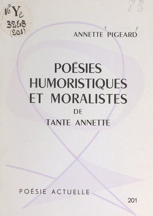 Poésies humoristiques et moralistes de Tante Annette