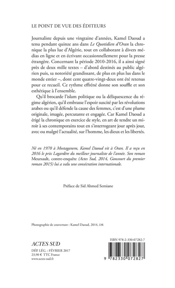 Mes indépendances ; chroniques 2010-2016