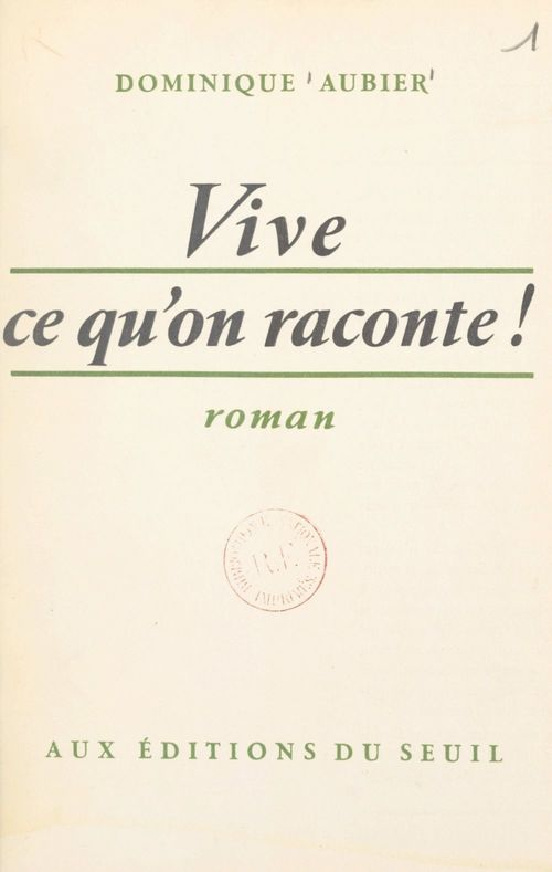 Vive ce qu'on raconte !
