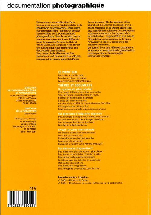 Documentation photographique t.8082; metropoles et mondialisation