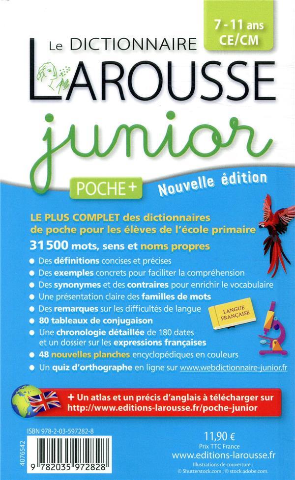 Larousse de poche + ; dictionnaire Larousse junior poche plus