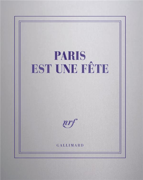 Carnet carré argent ligné Paris est une fête
