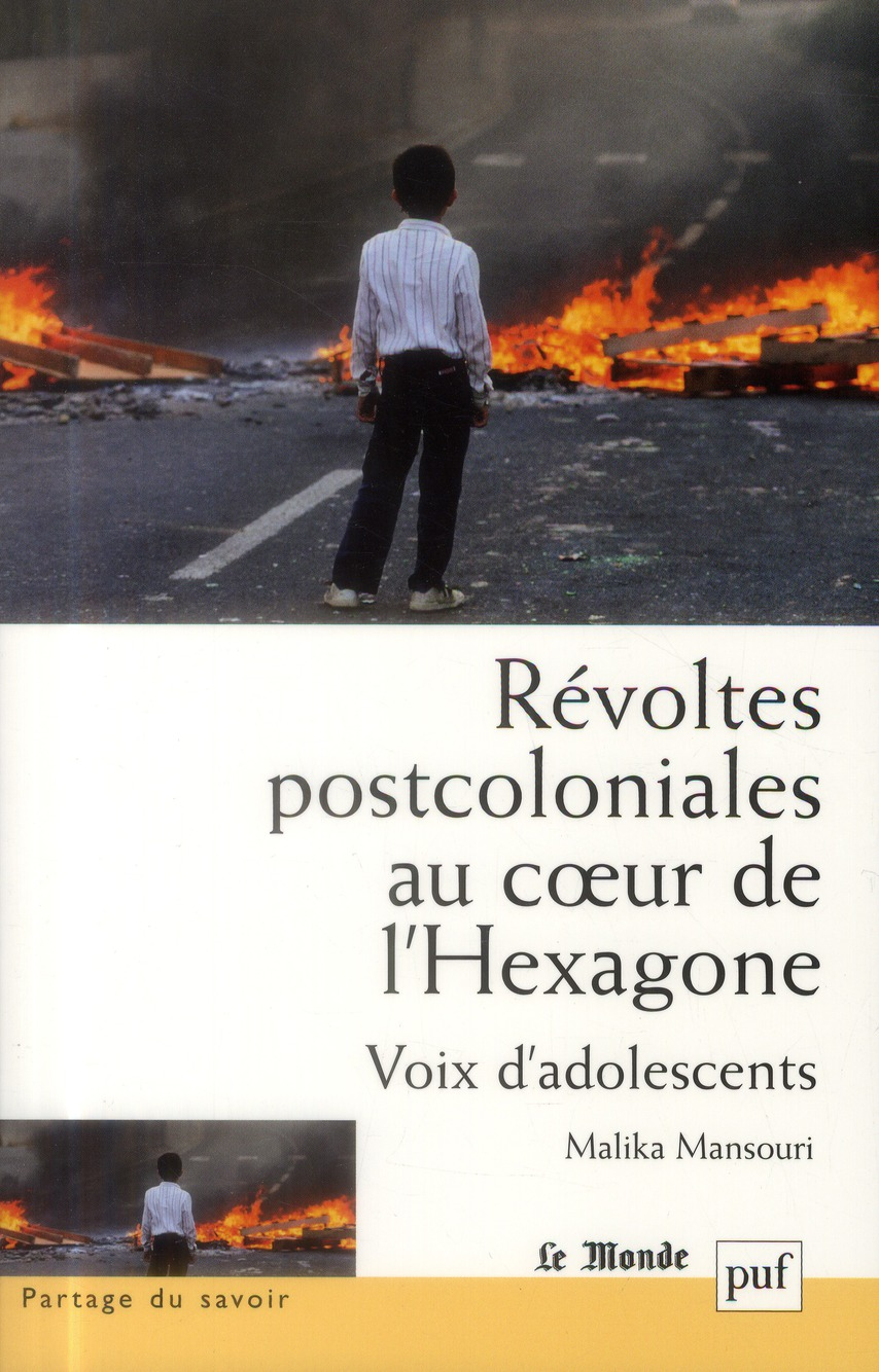 Révoltes postcoloniales au coeur de l'Hexagone ; vois d'adolescentes