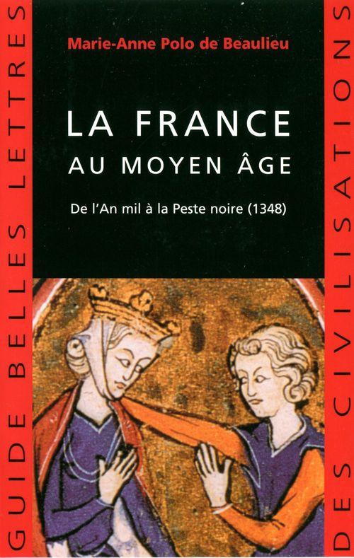 La france au moyen age - de l'an mil a la peste noire (1348)