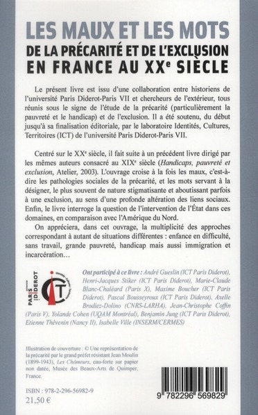 Les maux et les mots de la précarité et de l'exclusion en France au XX siècle