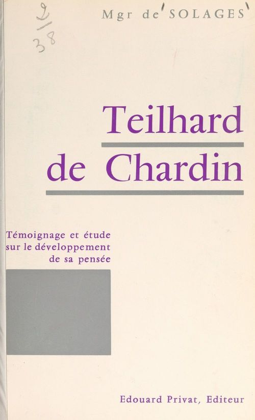 Teilhard de Chardin  - Bruno de Solages