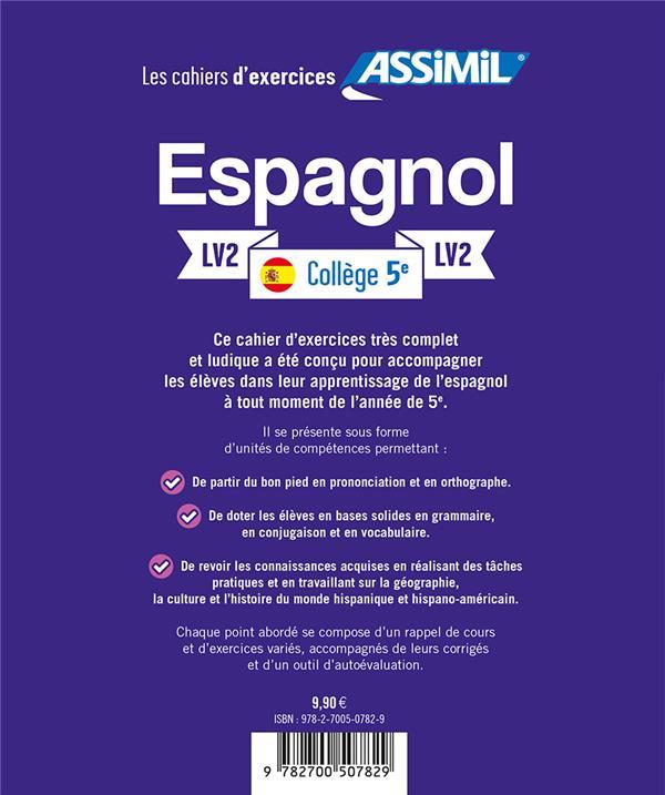 Espagnol ; 5e ; lv2