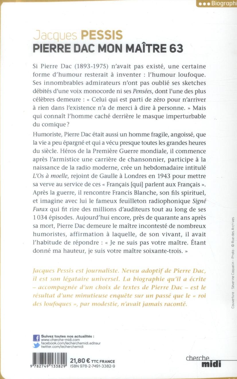 Pierre Dac ; mon maître 63