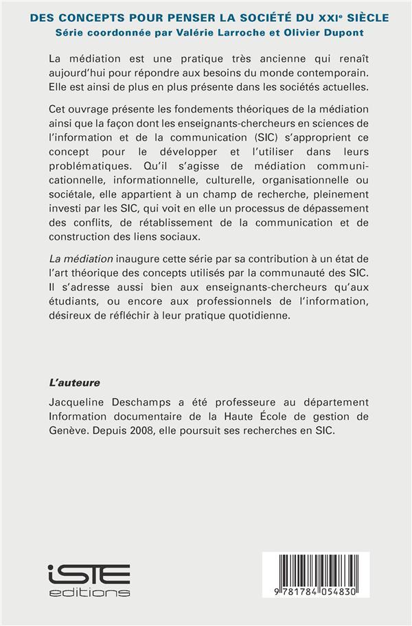 la médiation ; un concept pour les sciences de l'information et de la communication