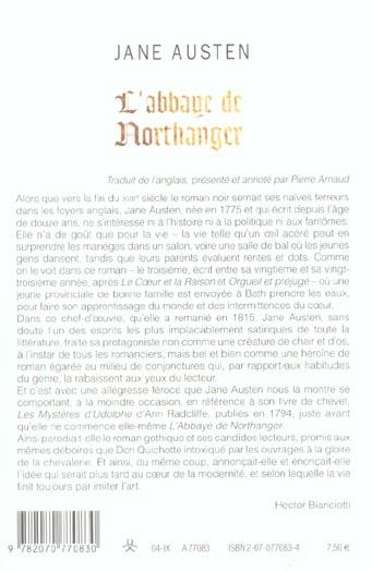 L'abbaye de northanger