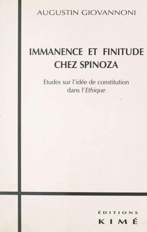 Immanence et finitude chez spinoza