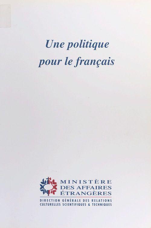Politique pour le francais