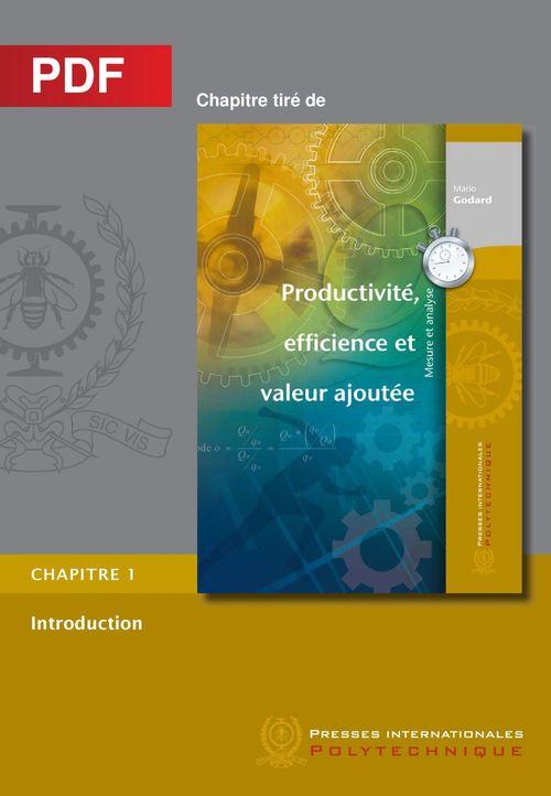 Productivité, efficience et valeur ajoutée - Introduction (Chapitre PDF)