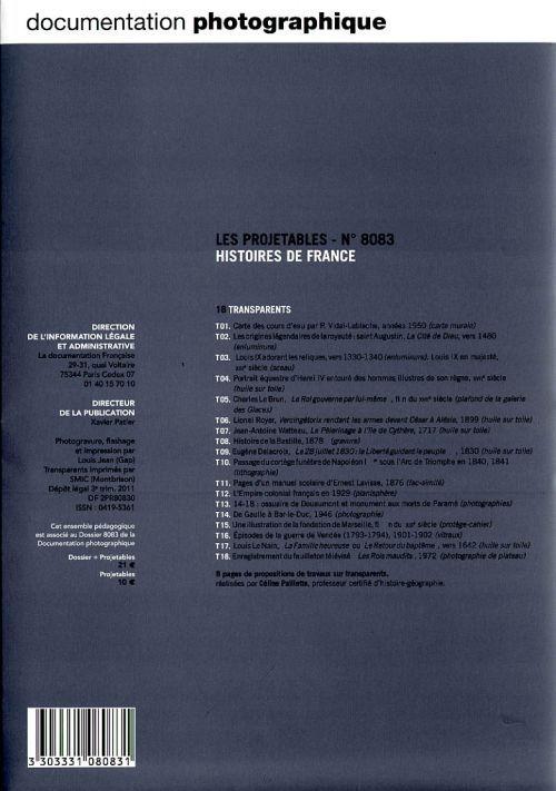 Documentation photographique t.8083; histoires de france