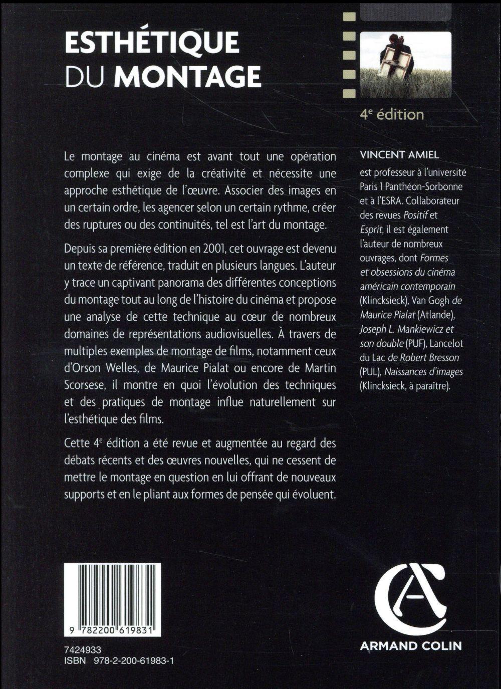 Esthétique du montage (4e édition)