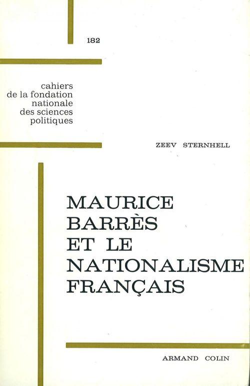 Maurice Barrès et le nationalisme français