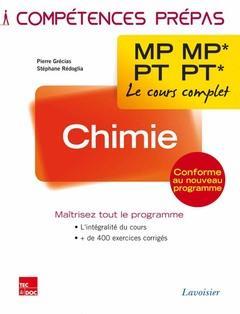 Rédoglia Stéphane - CHIMIE 2E ANNEE MP MP* - PT PT* (COLLECTION LE COURS COMPLET)