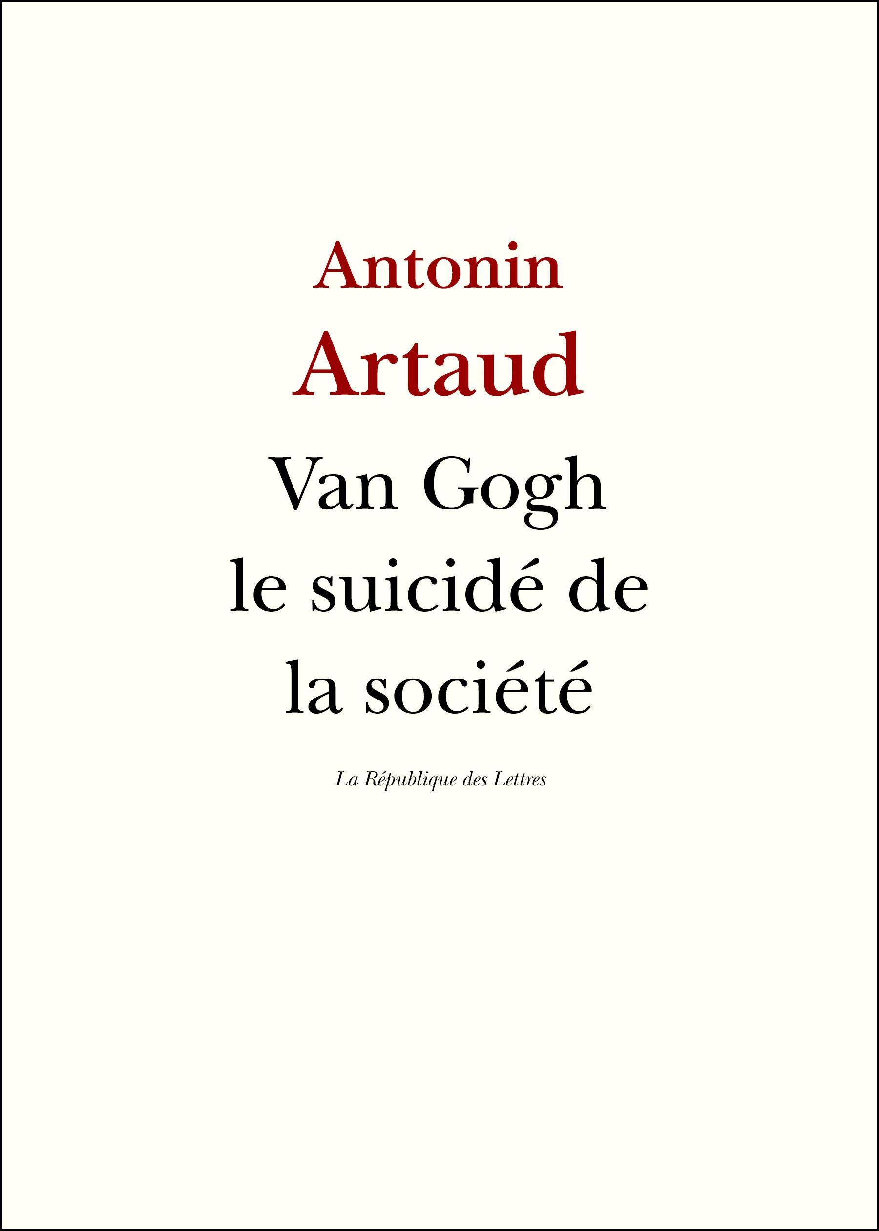 Van Gogh, le suicidé de la société