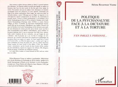 Politique de la psychanalyse face à la dictature et à la torture