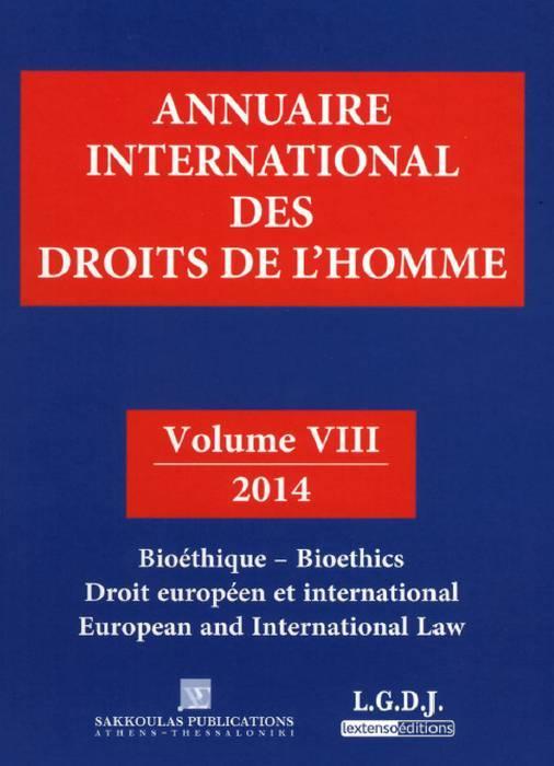 Annuaire international des droits de l'homme t.8 ; 2014