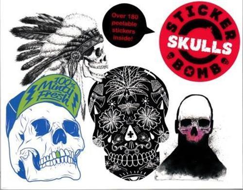 Stickerbomb skulls